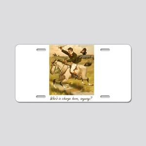 Equestrian Trainer - Who's Aluminum License Plate