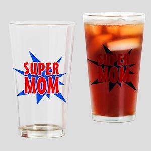 Super Mom Drinking Glass