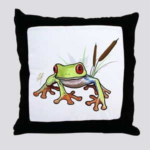 """Frog 1"" Throw Pillow"