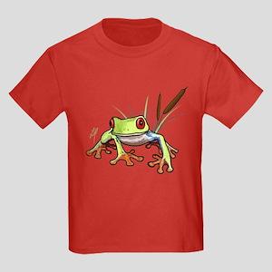 """Frog 1"" Kids Dark T-Shirt"