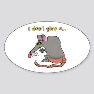 I don't give a rat's... Sticker