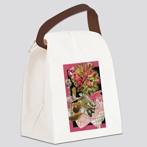 French Tulips Canvas Lunch Bag