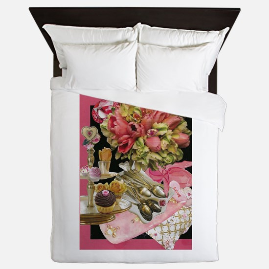 French Tulips Queen Duvet