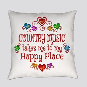 Country Happy Place Everyday Pillow