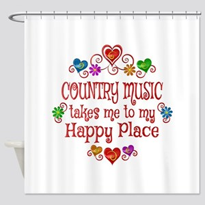 Country Happy Place Shower Curtain