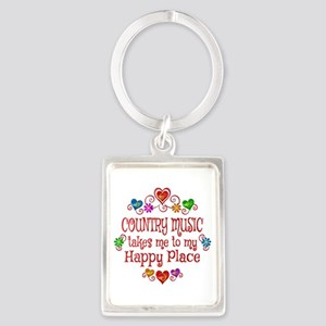 Country Happy Place Portrait Keychain