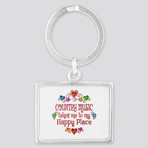 Country Happy Place Landscape Keychain