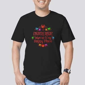Country Happy Place Men's Fitted T-Shirt (dark)