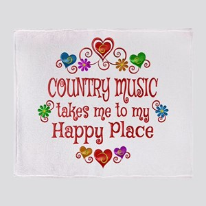 Country Happy Place Throw Blanket