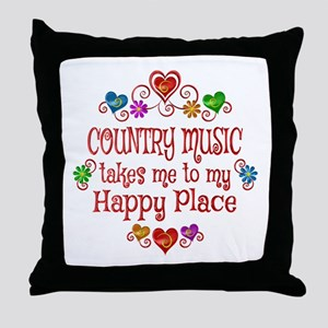 Country Happy Place Throw Pillow
