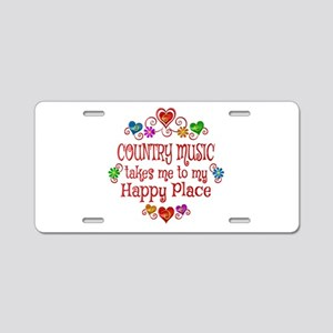 Country Happy Place Aluminum License Plate