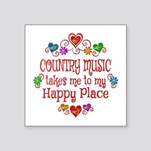 "Country Happy Place Square Sticker 3"" x 3"""