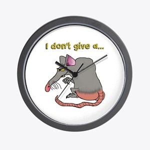 I don't give a rat's... Wall Clock