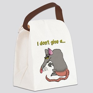 I don't give a rat's... Canvas Lunch Bag