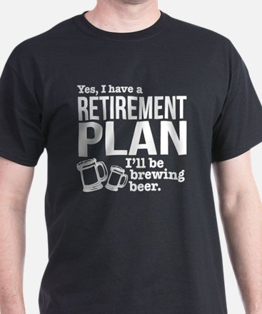 Brewing Beer Retirement Plan T-Shirt