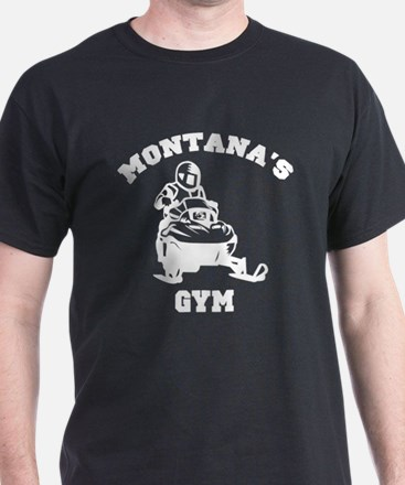 Montana's Snowmobile Gym T-Shirt