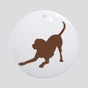 Lab 2 Brown Round Ornament