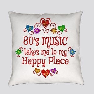 80s Music Happy Place Everyday Pillow