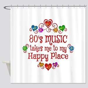 80s Music Happy Place Shower Curtain