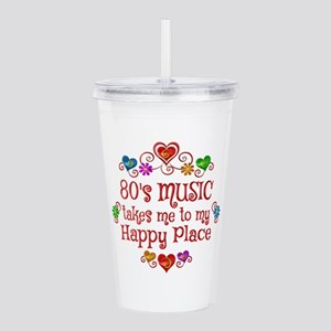 80s Music Happy Place Acrylic Double-wall Tumbler