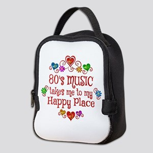 80s Music Happy Place Neoprene Lunch Bag