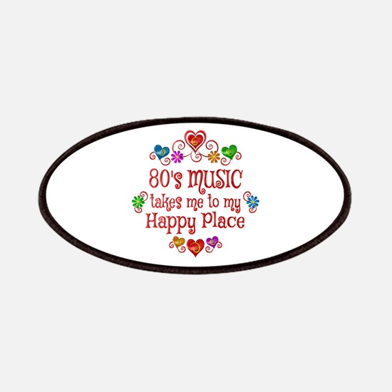 80s Music Happy Place Patch