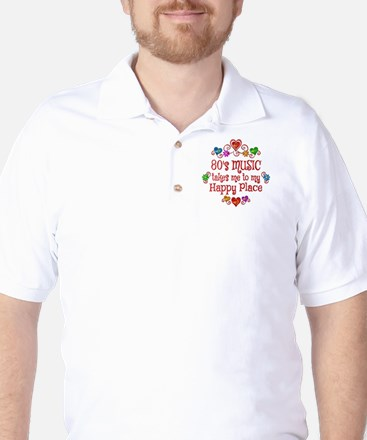 80s Music Happy Place Golf Shirt