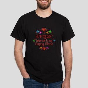 80s Music Happy Place Dark T-Shirt