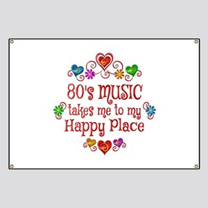 80s Music Happy Place Banner