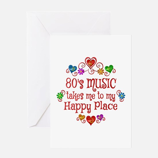 80s Music Happy Place Greeting Card
