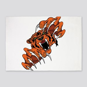 Scary Tiger 5'x7'Area Rug