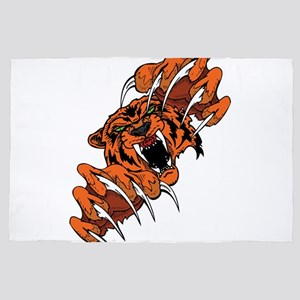 Scary Tiger 4' X 6' Rug