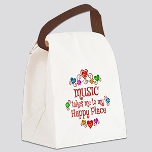Music Happy Place Canvas Lunch Bag