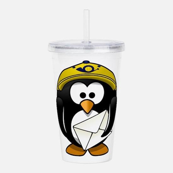 Postman Penguin Acrylic Double-wall Tumbler