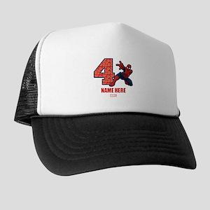 Spider-Man Personalized Birthday 4 Trucker Hat