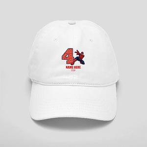 Spider-Man Personalized Birthday 4 Cap