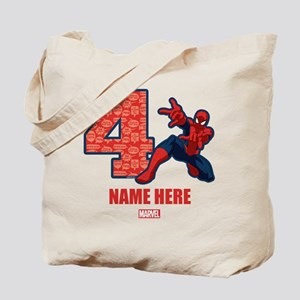 Spider-Man Personalized Birthday 4 Tote Bag