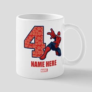 Spider-Man Personalized Birthday 4 Mug