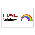 I Love Rainbows Sticker (Rectangle 10 pk)