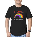 I Love Rainbows Men's Fitted T-Shirt (dark)