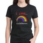 I Love Rainbows Women's Dark T-Shirt