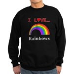 I Love Rainbows Sweatshirt (dark)