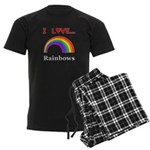 I Love Rainbows Men's Dark Pajamas