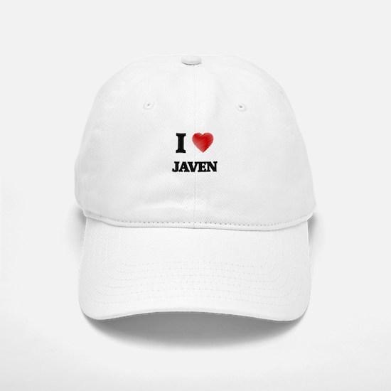 I love Javen Baseball Baseball Cap
