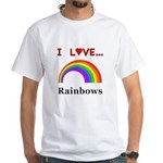 I Love Rainbows White T-Shirt