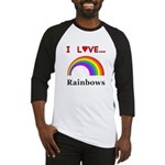 I Love Rainbows Baseball Jersey
