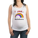 I Love Rainbows Maternity Tank Top