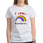 I Love Rainbows Women's T-Shirt