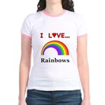 I Love Rainbows Jr. Ringer T-Shirt