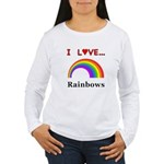 I Love Rainbows Women's Long Sleeve T-Shirt